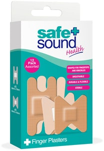 Safe + Sound Assorted Finger & Knuckle Plasters 12pk