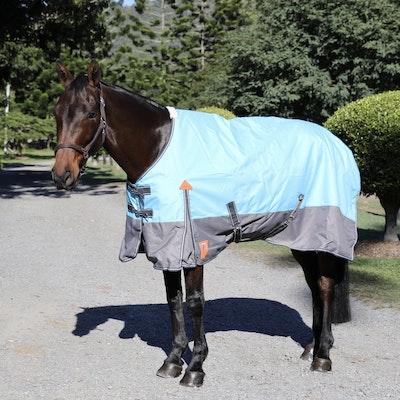 Capriole Equestrian 1200D Aqua & Grey Waterproof Rug – with 250g Filling.
