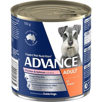 Advance Wet Dog Food Adult Chicken And Salmon 700g