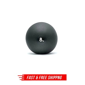 Adidas 8kg Weighted Slam Dead Ball Bounce Gym Crossfit Boxing Fitness - Black