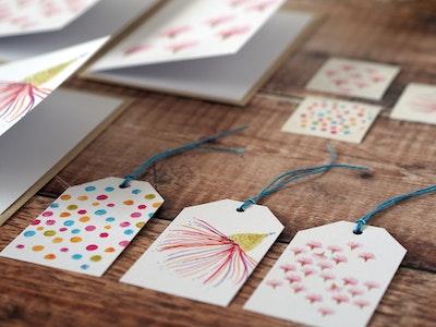 Greeting card set - Gum flower