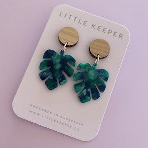 Mini Leaf Earrings