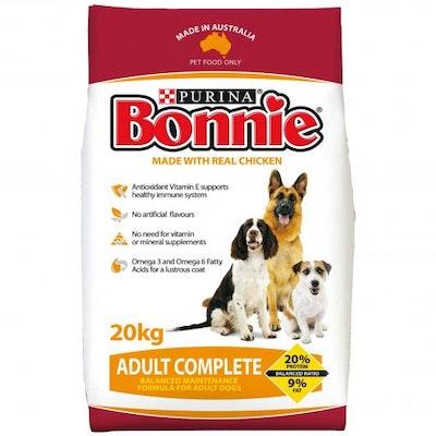 Bonnie Complete Adult Dry Dog Food 20kg