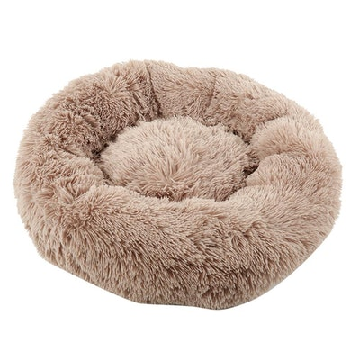 House of Pets Delight Soothing Calming Donut Pet Bed in Brown