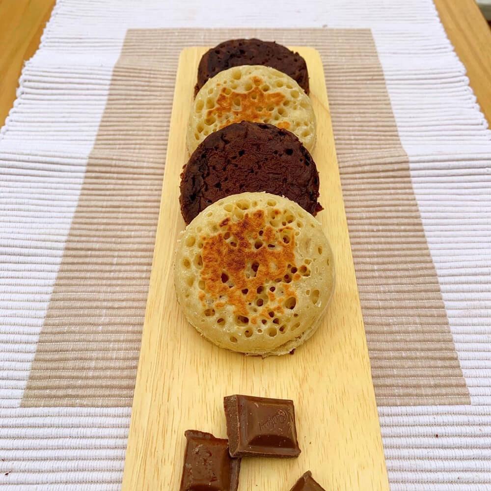 Crumpetorium Chocolate Crumpet Box: Choc Chip + Choc Orange Handmade Crumpets