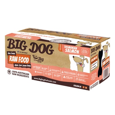 Big Dog Tasmanian Salmon Raw Food for Dogs 3kg