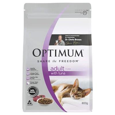 Optimum Adult Tuna Dry Cat Food 800G