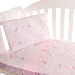 Babyhood Amani Bebe 3pce Cot Sheet Set - Ballerina Princess