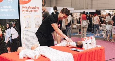 A shout-out to the Red Nose Safe Sleep Advice Line this Red Nose Day!