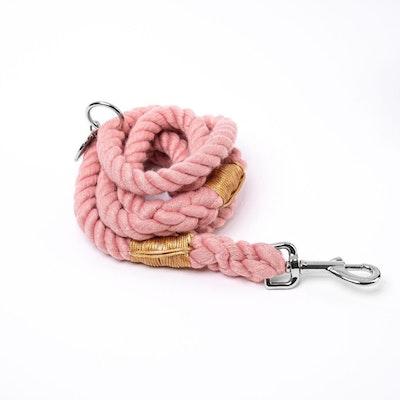 Barker & Bone Rope Dog Leash | Coral Pink