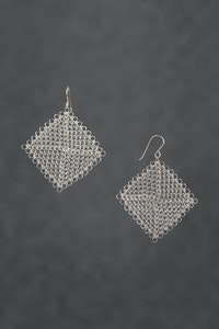 PAMdesigned Silver Plated Wire Square Earrings - Linda Earrings 2020