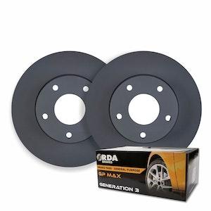 RDA REAR DISC BRAKE ROTORS + PADS for Mazda 6 GH 2.2TD Wagon 12/2008-11/2012