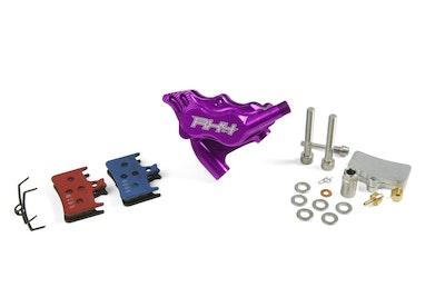Hope Rx4 Caliper Flatmount Rear - Purple - Shimano