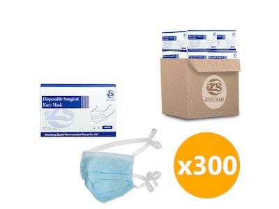 WH Safe *Wholesale* Surgical Face Mask ASTM Level 3, Tie-Back - 300 Units