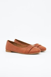 1 People Cape Town Ballerina Flats in Canela Brown