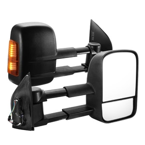 SAN HIMA SAN HIMA Pair Towing Mirrors for Nissan Pathfinder MY 2003-2013 Black