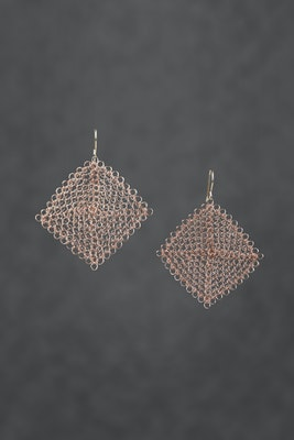 PAMdesigned Rose Gold Square Earrings - Katie Earrings