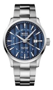 Mido Multifort Dual Time - Stainless Steel - Stainless Steel Strap