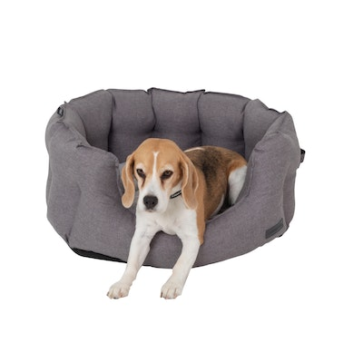 La Doggie Vita NEW!! Water Resistant Oxford High Side Grey Shell Bed