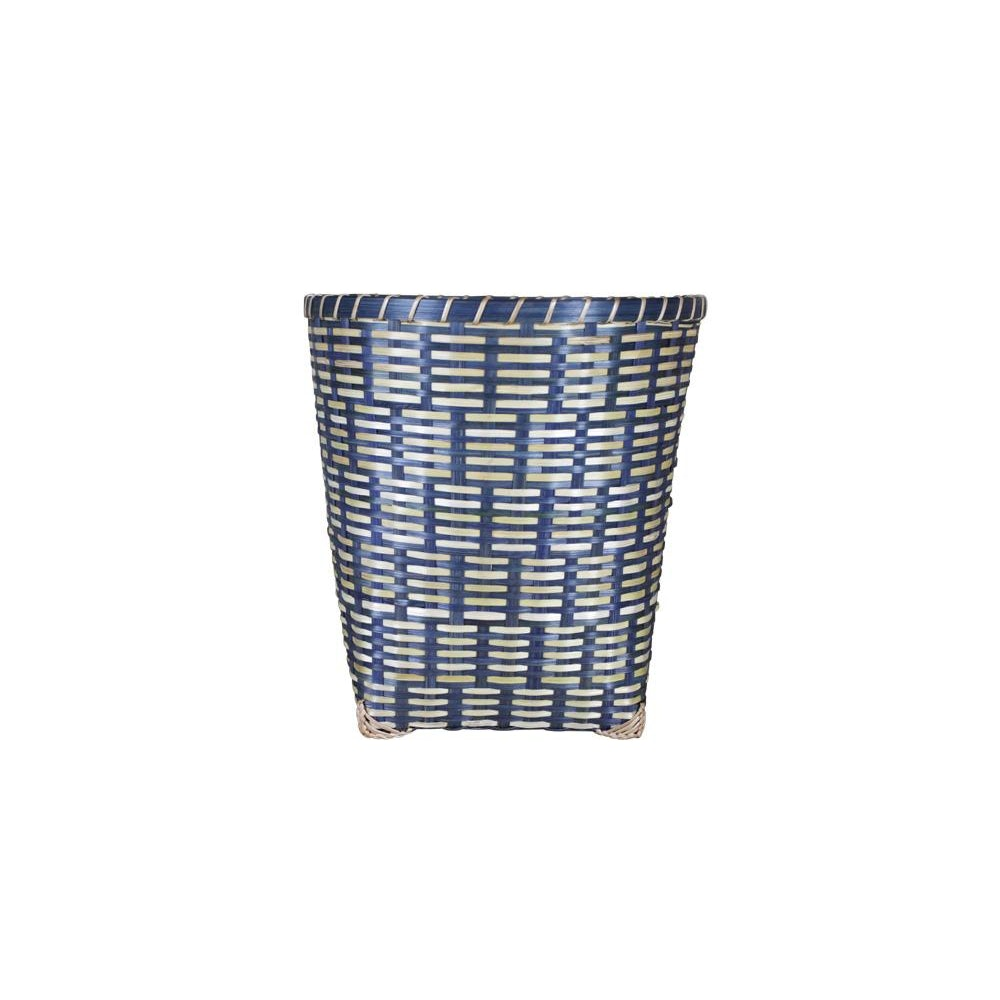 Birdie Fortescue Woven Wastepaper Basket - Blue