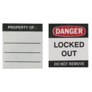ABUS Safety Lockout Padlock Replacement Label Pack LOTO