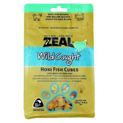 Zeal Free Range Naturals Hoki Fish Cubes Dog Cat Treat 125g