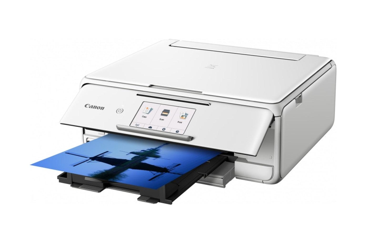 Canon Pixma TS8160 White Inkjet Multifunction Printer