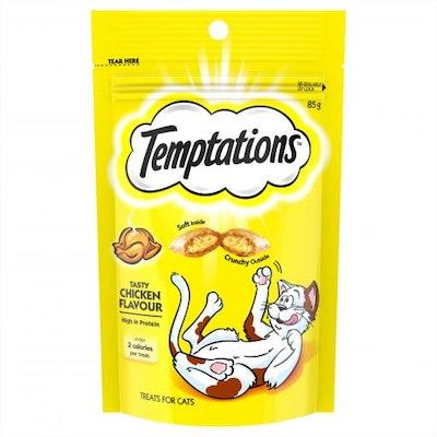 TEMPTATIONS Tasty Chicken Cat Treats 85G