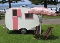 Belinda Kiers little van from Sydney. She pulls this little beauty with a 1972 Austin 1800