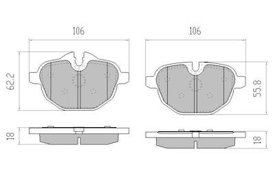 EBC ULTIMAX PREMIUM BRAKE PADS for BMW X3 F25 20d,20i,28i,30d  DPX2047