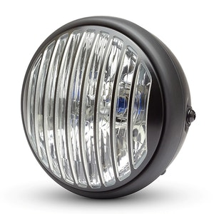 """Black Classic Headlight with Vent Grill - 7.7"""""""