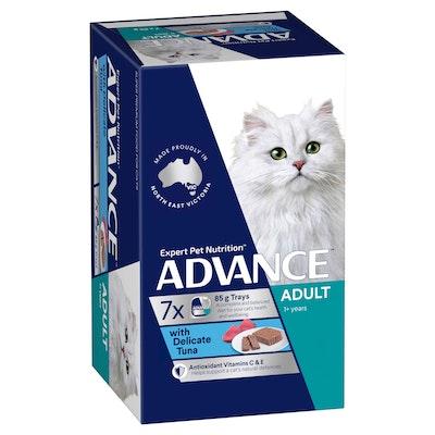 Advance Adult Delicate Tuna Wet Cat Food 7x85G