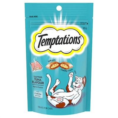 TEMPTATIONS High Protein Cat Treats Tempting Tuna 6 x 85g
