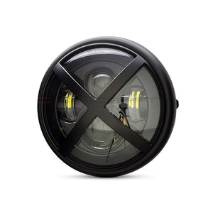 """7.7"""" Multi Projector Headlight with X-Rally Grill - Matte Black"""