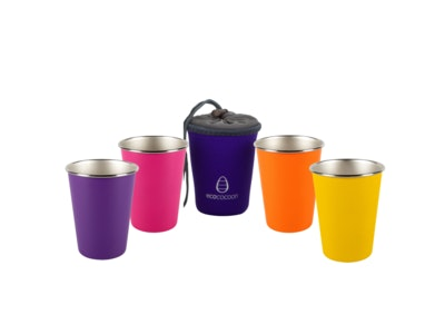 Ecococoon Stainless Steel Cup Set - Bubble Gum