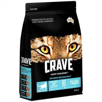 CRAVE Adult Chicken & Salmon Dry Cat Food 500G