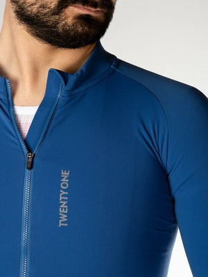 Twenty One Cycling Factory Thermal jersey - SteelBlue - Men