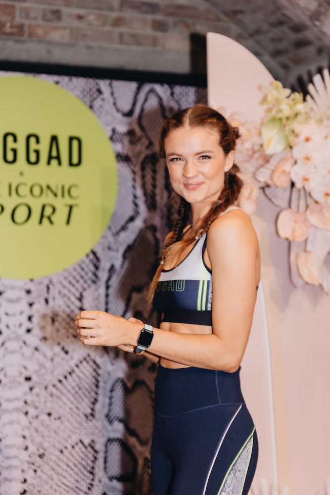 Laura Henshaw at JAGGAD x The ICONIC Sport capsule collection launch