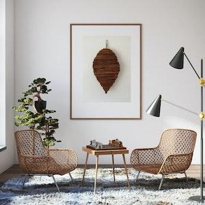 Leaf shaped wall hanging