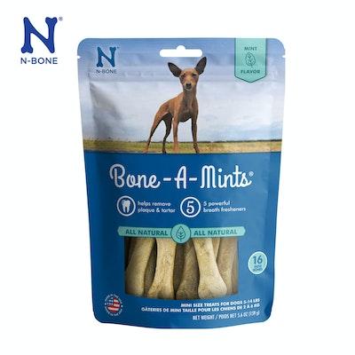 N-Bone Bone-A-Mints Dental Bones Mint Flavor Mini 16pks