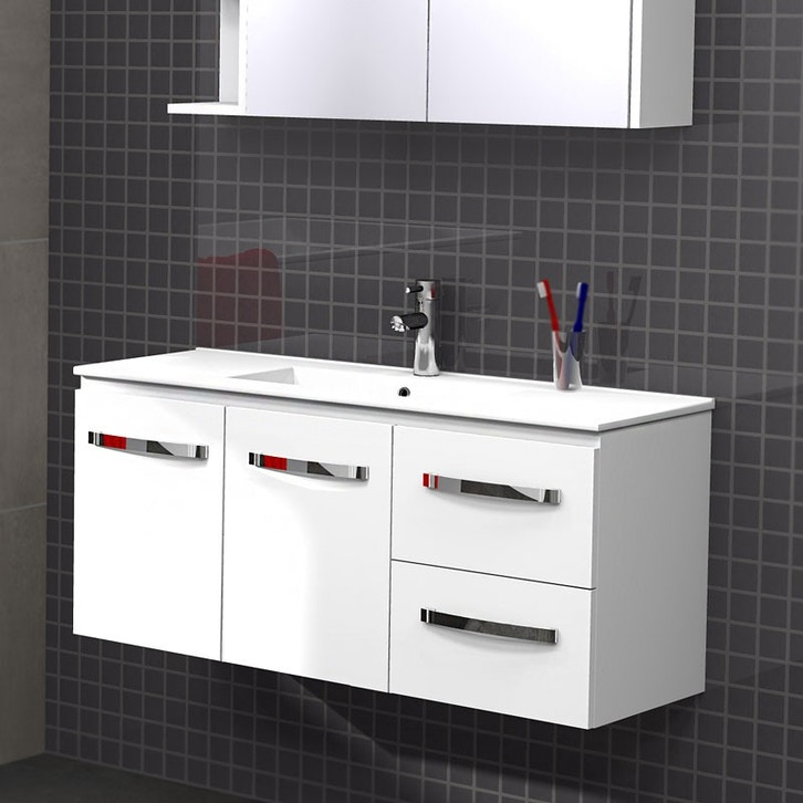 Timberline florida ensuite 1000mm wall hung pre built for Premade bathroom vanities