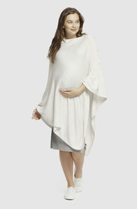 Sprout Maternity Maternity Knit Poncho – Soft Marle