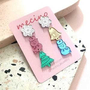 Christmas Day - Christmas Acrylic Earrings
