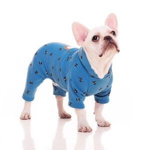 Queenie's Pawprints Soft & Warm Winter Doggie Pyjamas