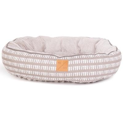 Mog & Bone 4 Seasons Dog Reversible Circular Bed Latte Inverse Mosaic - 4 Sizes