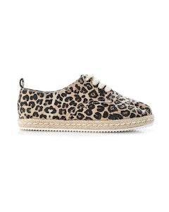 WALNUT GISELLE ESPADRILLE SNEAKER - Leopard