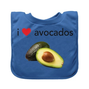 green sprouts Pull-over Food bib (single)-Blue Avocados-9/18mo
