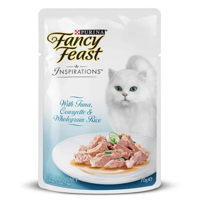 Fancy Feast Inspirations Tuna, Courgette & Rice Wet Cat Food 70G