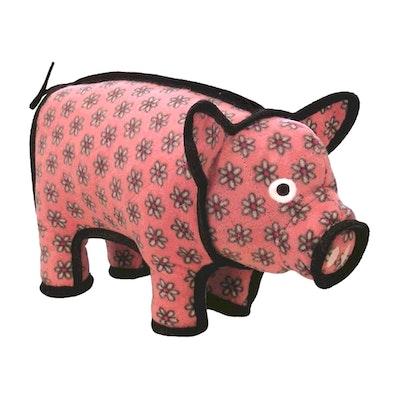 Tuffy Toys Tuffy Barnyard Series Polly Piggy Plush Dog Toy Pink