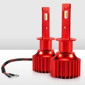 Bunker Indust H1 LED Headlight Kit 50W 8000LM Globe Bulbs White High/Low Beam